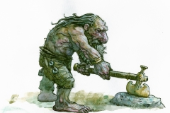 Dwarf testing axe