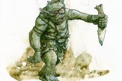 Troll with dagger